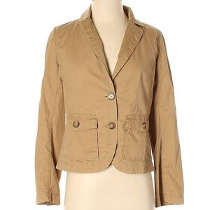 J. Crew Classic Twill Tan Chino Jacket Sz. Small S